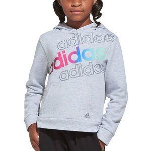 Adidas Big Girls Logo Fleece Pullover Hoodie M